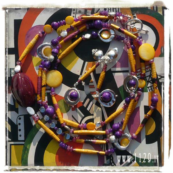 collana carta paper necklace IMVIGI 1129 altered art