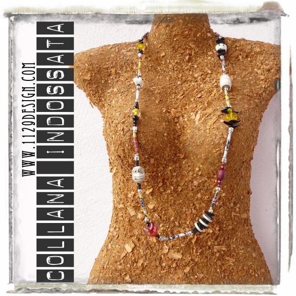 collana necklace basquiat indossata