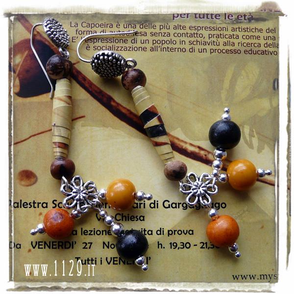 art orecchini earrings CAPOEIRA 9cm