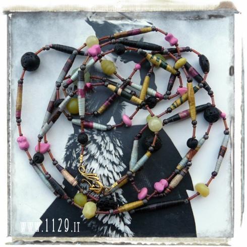 art collana necklace LADECO 218cm gioielli carta