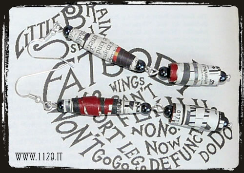 gioielli di carta - orecchini earrings paper jewelery