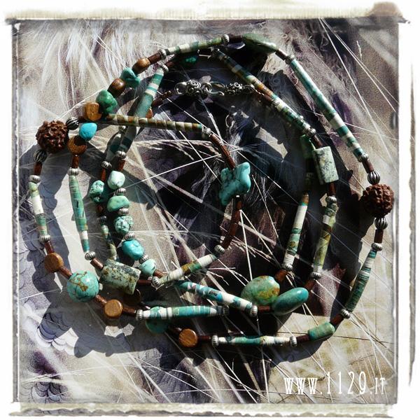 art collana necklace IMTURCHESE 118cm