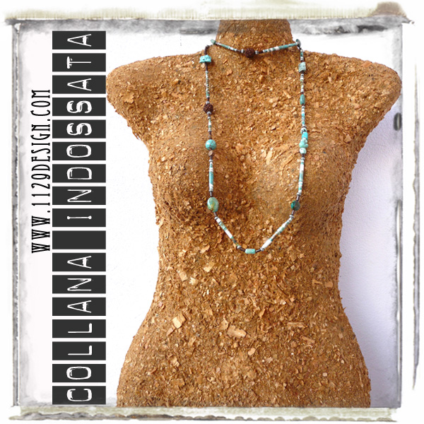 art collana necklace IMTURCHESE indossata