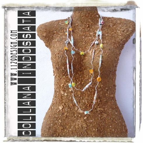 art collana necklace LAFLORA indossata