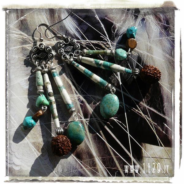 art orecchini earrings IMTURCHESE 95mm