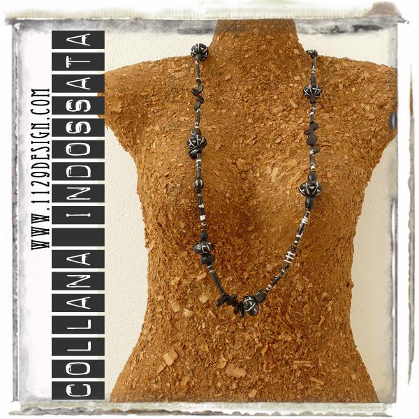 LF-ALLBLACKS-art-necklace-indossata