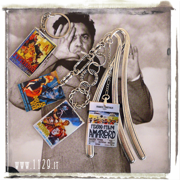 federico fellini-segnalibri-porta-chiavi-locandina-film