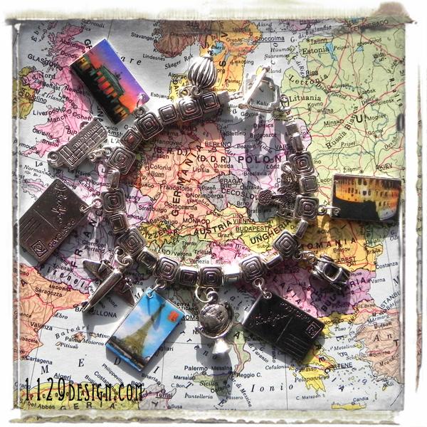 bracciale-viaggiatrice-charm-capitali-europa-travelling-europe-ciondoli-altered-art