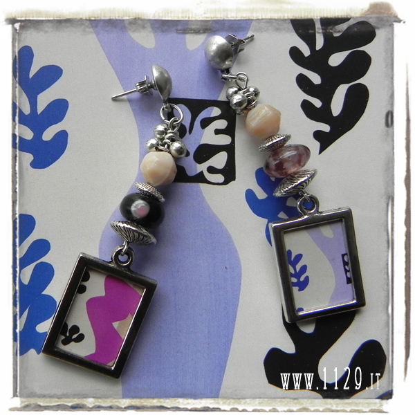 LBMATISSE orecchini carta mostra matisse michelangelo brescia matisse exhibition paper earrings 1129 design