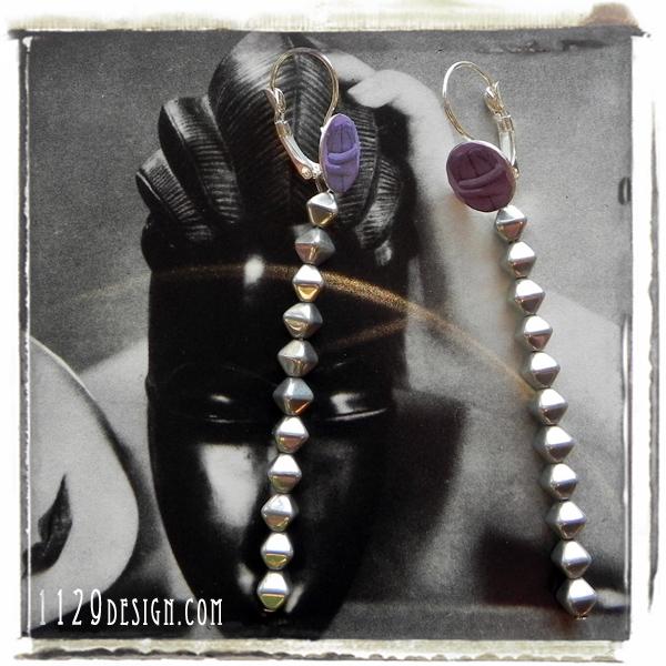 LBRANC orecchini endless kiss constantin brancusi paper earrings 1129design