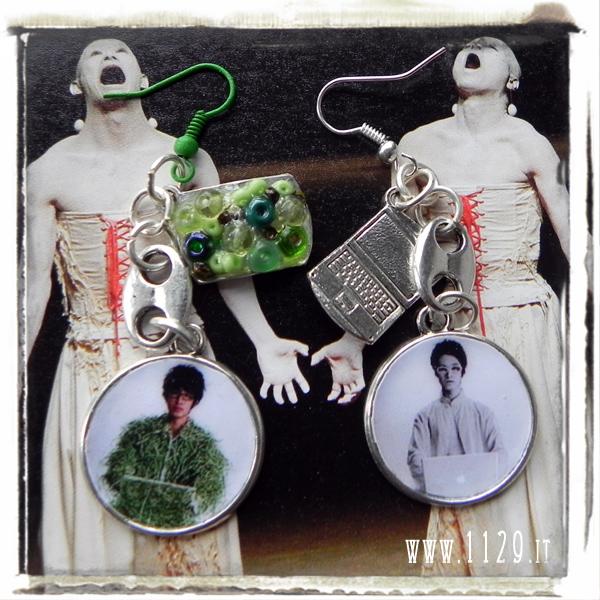 Junichi Takahashi - Whiteface Project orecchini paper earrings mac 1129design