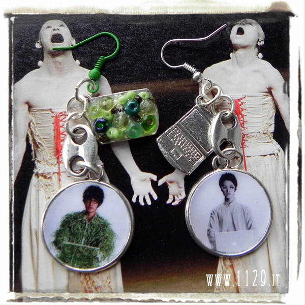Junichi Takahashi - Whiteface Project orecchini paper earrings mac 1129design